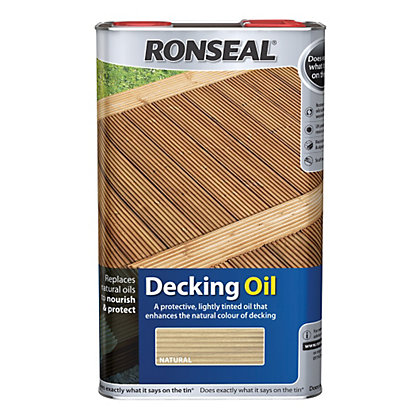 Image for Ronseal Standard Decking Oil Natural - 5L from StoreName