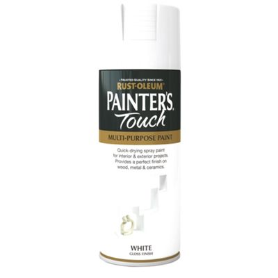 Rust-Oleum Gloss Spray Paint - White - 400ml