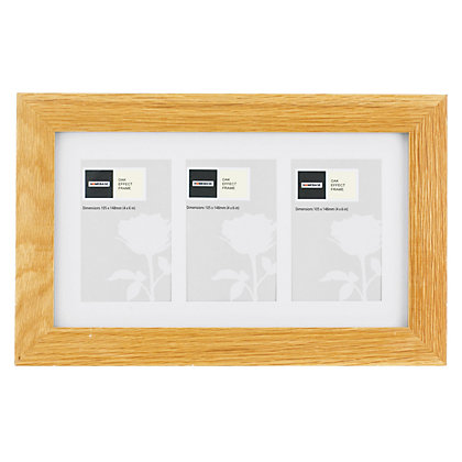 Image for Oak 3 Aperture Photo Frame from StoreName