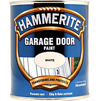 Hammerite White - Garage Door Enamel Exterior Paint - 750ml