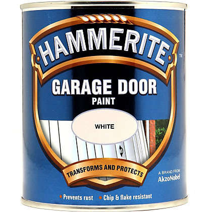 Image for Hammerite White - Garage Door Enamel Exterior Paint - 750ml from StoreName