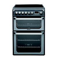 Hotpoint Ultima HUE61G S Freestanding Cooker - Graphite