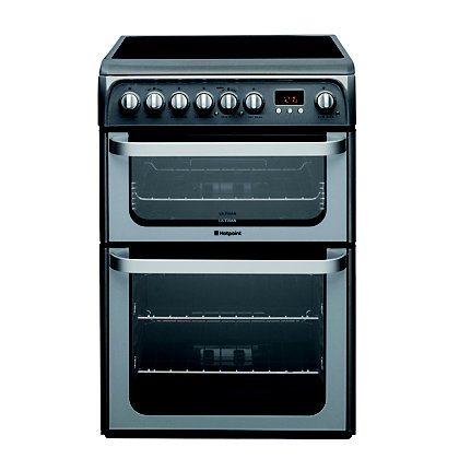 Image for Hotpoint Ultima HUE61G S Freestanding Cooker - Graphite from StoreName