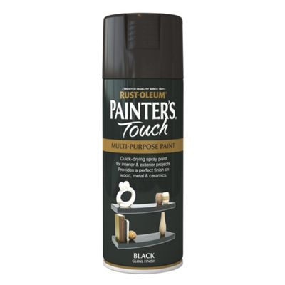 Rust-Oleum Gloss Spray Paint - Black - 400ml