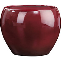 Dark Red Pot - 15cm