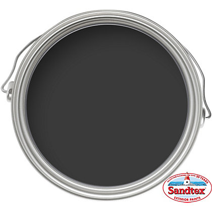 Image for Sandtex Black - 1 Coat Exterior Gloss Paint - 2.5L from StoreName