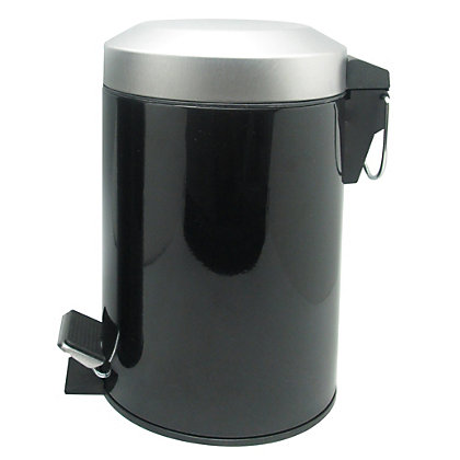 Image for 3L Flat Arch Bin- Black from StoreName