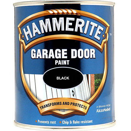 Image for Hammerite Black - Gloss Garage Door Paint - 750ml from StoreName