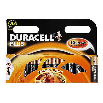 Image for Duracell Plus AA Batteries - 12 Pack from StoreName