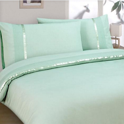 Aimee Ribbon And Pleat Duvet Cover Set