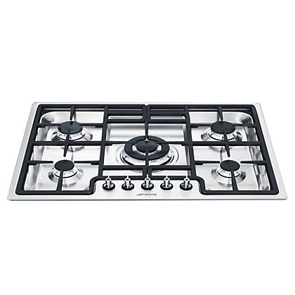 Image for Smeg PGF75-4 Ultra low Profile Gas Hob - Stainless Steel from StoreName