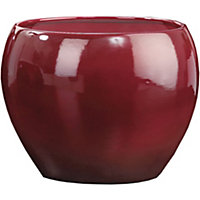 Dark Red Pot - 17cm