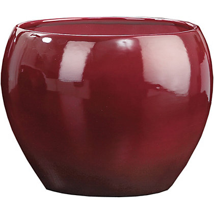 Image for Dark Red Pot - 17cm from StoreName
