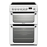 Hotpoint Ultima HUE61P S Freestanding Cooker - White