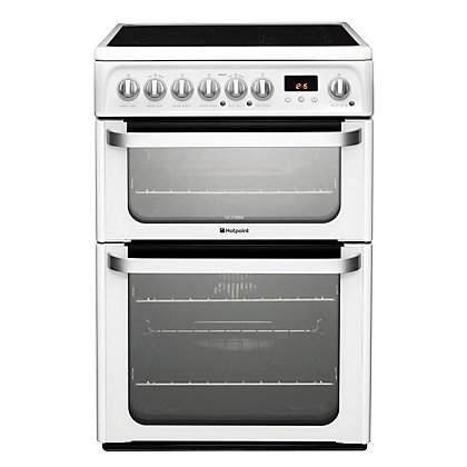 Image for Hotpoint Ultima HUE61P S Freestanding Cooker - White from StoreName