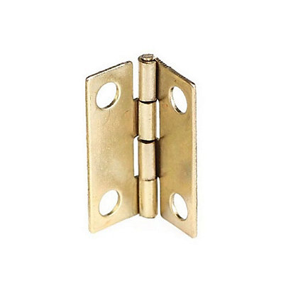Image for Cabinet Butt Hinge Brass Plated - 25mm - Pack of 2 from StoreName