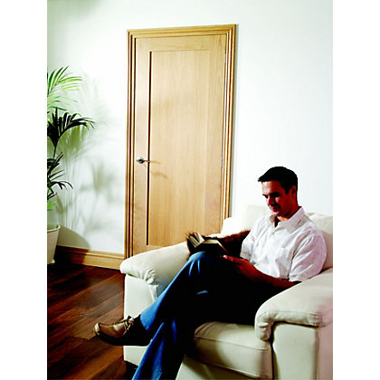 Image for 1 Panel Pre-Finished Oak Shaker Internal Door - 686mm Wide from StoreName
