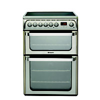Hotpoint Ultima HUE61X S Freestanding Cooker - Stainless Steel