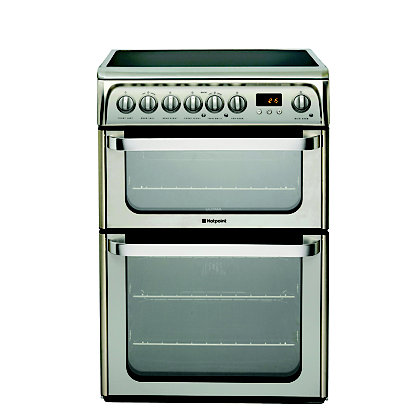 Image for Hotpoint Ultima HUE61X S Freestanding Cooker - Stainless Steel from StoreName