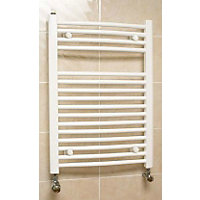 Richmond Curved Heated Towel Rail - White 764 x 600mm