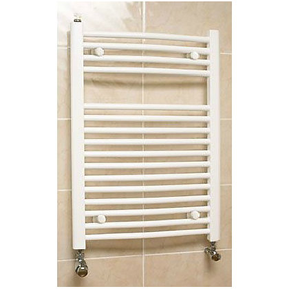 Image for Richmond Curved Heated Towel Rail - 764 x 600mm - White from StoreName