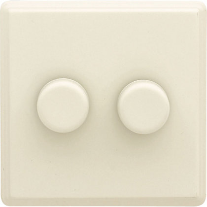 Image for Laura Ashley 400W Push Dimmer Switch - Double - Cream from StoreName