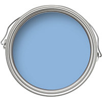 How to clean painted bathroom walls - Dulux Blue Babe Silk Emulsion Paint 2 5l