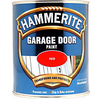 Hammerite Red - Garage Door Enamel Exterior Paint - 750ml