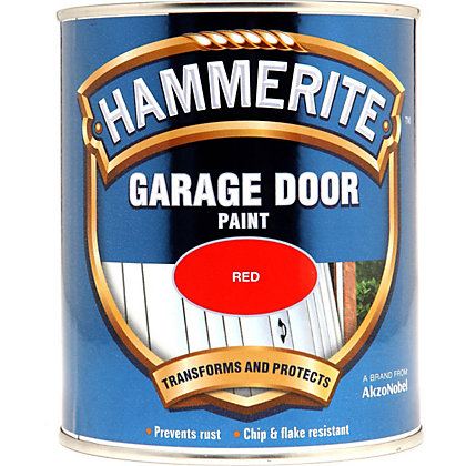 Image for Hammerite Red - Garage Door Enamel Exterior Paint - 750ml from StoreName