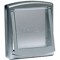 Staywell Small 2-Way Pet Door - Metallic Grey