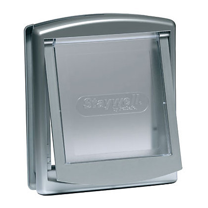 Image for Staywell Small 2-Way Pet Door - Metallic Grey from StoreName
