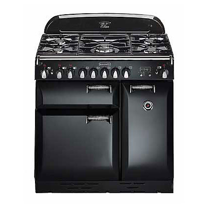 Image for Rangemaster Elan 72900 90cm Dual Fuel Cooker - Black & Chrome from StoreName
