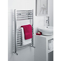 Richmond Curved Heated Towel Rail - Chrome 1142 x 600mm