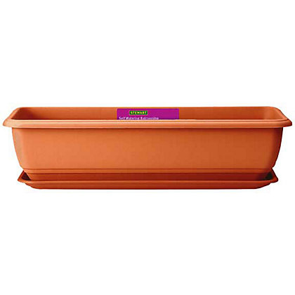 Image for Self Watering Balconniere Troughs in Terracotta - 70cm from StoreName