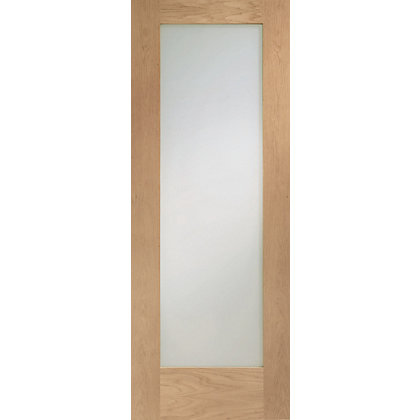 Image for 1 Lite Pre-Finished Shaker Oak Internal Door - 610mm Wide from StoreName