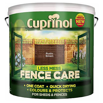 Image for Cuprinol Less Mess Fencecare- Rustic Brown- 9L from StoreName