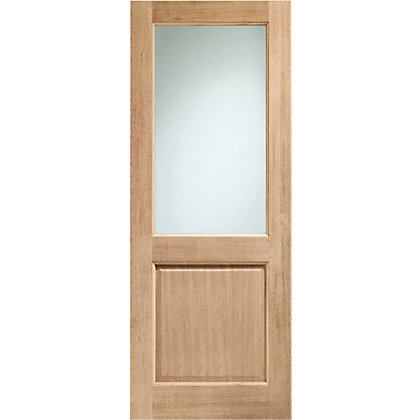 Image for Panel Oak Double Glazed External Door - 762mm Wide from StoreName