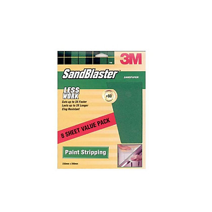 Image for 3M SandBlaster Coarse P80 Sandpaper - 8 pack from StoreName