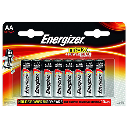 Image for Energizer Max Alkaline Batteries - AA - 12 Pack from StoreName