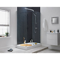 Aqualux Sapphire Walk-in Shower Enclosure - Silver- 1900 x 1400mm