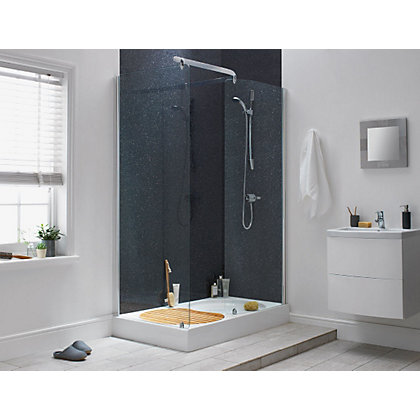 Image for Aqualux Sapphire Walk-in Shower Enclosure - 1900 x 1400mm - Silver from StoreName