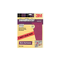 3M SandBlaster Medium P150 Sandpaper - 8 pack