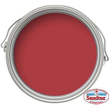 Image for Sandtex Pillar Box Red - High Performance Gloss Paint - 750ml from StoreName