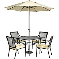 Rimini 4 Seater Garden Furniture Set - Home Delivery