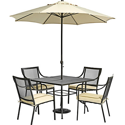 Image for Rimini 4 Seater Metal Garden Furniture Set - Home Delivery from StoreName