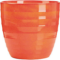 Red Orange Indoor Plant Pot - 16cm