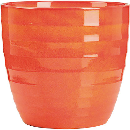 Image for Red Orange Indoor Plant Pot - 16cm from StoreName
