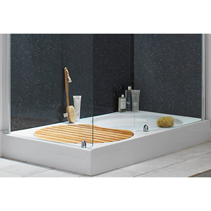 Image for Aqualux Sapphire Walk-in Shower Tray - 1400 x 800mm from StoreName
