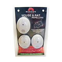 Beacon Mouse and Rat Repeller - 46sq m range (3 pack)