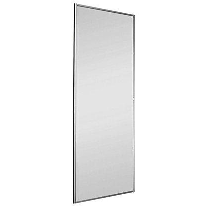 Image for Classic Silver Frame Mirror Sliding Door - 762mm from StoreName